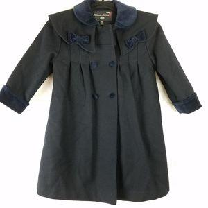 Stephanie Mathews Girl's Sz 5 Wool Dress coat